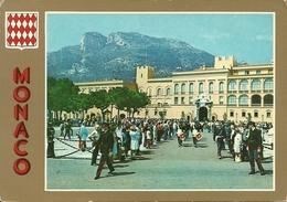 Principaute De Monaco, Montecarlo, Place Du Palais A La Reléve De La Garde, Piazza Del Palazzo Al Cambio Della Guardia - Palazzo Dei Principi