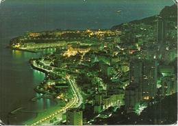 Principaute De Monaco, Montecarlo, Vue Generale La Nuit, General View At Night, Panorama Notturno - Monaco