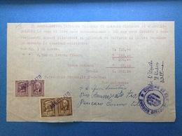 REGNO VITTORIO EMANUELE 1 E 10 LIRE MARCA DA BOLLO SU DOCUMENTO ITALY REVENUE - 1900-44 Vittorio Emanuele III