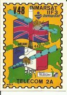 Autocollant Lancement ARIANE V48 Du 16 Décembre 1991 - CLUB PHILATELIQUE DE KOUROU - ESPACE - Aufkleber