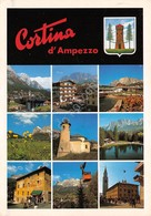 Cartolina Cortina D'Ampezzo 10 Vedute 1991 - Belluno