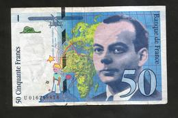 FRANCE - BANQUE De FRANCE - 50 Francs St Exupéry (1994) - 1992-2000 Laatste Reeks