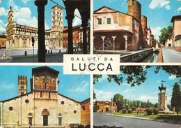 Cartolina Lucca 4 Vedute 1965 - Lucca