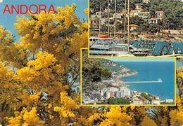Cartolina Andora 3 Vedute Panorama Porto Mimose 1983 - Savona