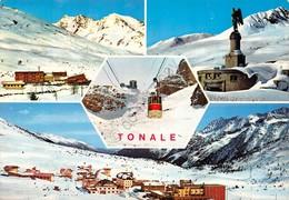 Cartolina Tonale 4 Vedute Funivia 1976 Timbro Hotel Miramonti - Trento