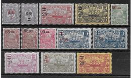 CALEDONIE - YVERT N°126/138 * / MH - COTE = 45.7 EUR. - CHARNIERE LEGERE - New Caledonia