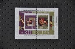 ARUBA ++ NEW NEW ++ 2013 BLOK FRANS HALS PAINTER SCHILDER MNH NEUF ** - Curaçao, Nederlandse Antillen, Aruba