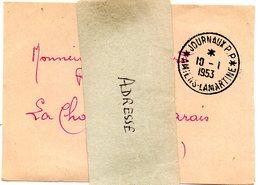SOMME - Dépt N° 80 = AMIENS LAMARTINE 1953 = CACHET MANUEL   A7 + PP JOURNAUX - Postmark Collection (Covers)