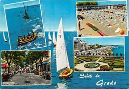 Cartolina Grado 5 Vedute Barche 1965 - Gorizia