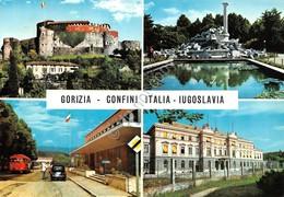Cartolina Gorizia 4 Vedute Confini Italia Iugoslavia 1965 - Gorizia