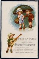"""ILLUSTRATEUR SIGNE """" A. BERTIGLIA """" - ENFANTS - MODE - PARAPLUIE - MUSIQUE - CHANSON - Bertiglia, A."""