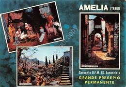 Cartolina Amelia Terni Convento OFM SS Annunziata Presepio Permanente 1959 - Terni