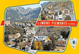 Cartolina Limone Piemonte 3 Vedute - Cuneo
