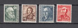 1942  PJ   N° 101 à 104  NEUFS**  COTE 5.50 FRS.  VENDU à 15%    CATALOGUE ZUMSTEIN - Pro Juventute