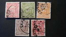 Bolivia - 1927 - Mi:BO 154,156,159-61 - Yt:BO 146,148,151-3 O - Look Scan - Bolivia