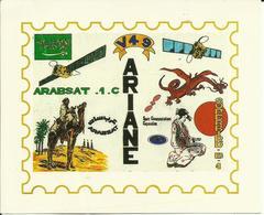 Autocollant Lancement ARIANE V49 Du 26 Février 1992 - CLUB PHILATELIQUE DE KOUROU - ESPACE - Stickers