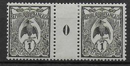 CALEDONIE - YVERT N°88 * / MH - MILLESIME 1920 - CHARNIERE SUR LE PONT - Unused Stamps