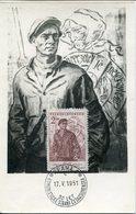 40736 Ceskoslovensko, Maximum 1951 ( Fdc !!) 30th Anniversary Of Comunismus In Czechoslovakia - Sonstige