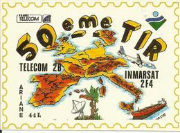 Autocollant Lancement ARIANE V50 Du 15 Avril 1992 - CLUB PHILATELIQUE DE KOUROU - ESPACE - Stickers