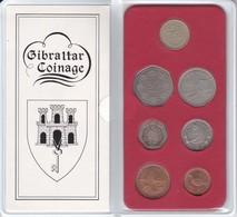 CARTERA DE 7 MONEDAS DE GIBRALTAR DEL AÑO 1988 EN SU ESTUCHE ORIGINAL (COIN) - Gibraltar