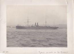 Photo Ancienne  Rade De La Ciotat Bateau Le Yarra Des Messageries Maritimes  PRIX FIXE - Boats
