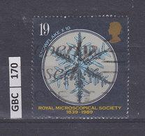GRAN BRETAGNA   1989R. Microscopical Society - 1952-.... (Elisabetta II)