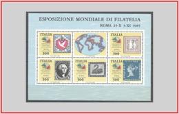 Italia Italy 1985 - Cat. BF 3 (MNH **) Esposizione Mondiale Di Filatelia - World Exhibition (12056) - 6. 1946-.. Repubblica