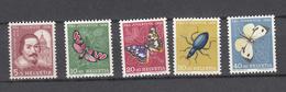 1956  PJ   N° 163 à 167  NEUFS**  COTE 8.00 FRS.  VENDU à 15%    CATALOGUE ZUMSTEIN - Pro Juventute