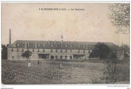 Cpa..33..SAINT SEURIN SUR L'ISLE..ST SEURIN SUR L'ISLE..LES CASERNES...ANIMEE... - France
