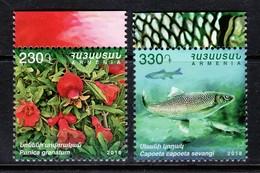 Armenien/Armenie/Armenia 2018,  Flora Fauna, Fish Flower Pomegranate - MNH - Armenia