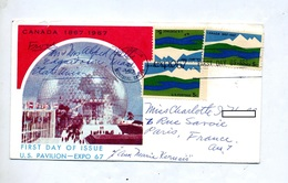 Lettre Fdc Expo 67 - 1961-1970