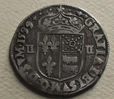1599 - France - QUART D'ECU De Béarn, Morlaas, HENRI IV, B Dans Un D En Fin De Légende, Argent, Silver, Dy 1240 - 1589-1610 Henri IV Le Vert-Galant