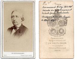 Photo (CDV) Emmanuel ARAGO (1812-1896)  Homme Politique - Ambassadeur En Suisse - Photo Reutlinger Paris  (110696) - Photographs