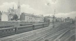 Arlon Gare Panorama Vers La Cathédrale - Chemin De Fer