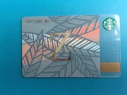 China Starbucks Store-valued Card, Alfabet ,used - Tarjetas De Regalo