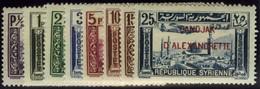 Alexandrette. Sc #C1-C8. Air Mail. Mint. VF. - Alexandrette (1938)