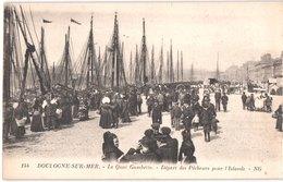 FR62 BOULOGNE SUR MER - NG 144 - Départ Des Pêcheurs Pour L'ISLANDE - Quai Gambetta - Animée - Belle - Boulogne Sur Mer