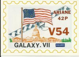 Autocollant Lancement ARIANE V54 Du 28 Octobre 1992 - CLUB PHILATELIQUE KOUROU - ESPACE - Aufkleber