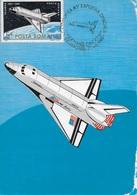 CARTE MAXIMUM - MAXICARD - MAXIMUM KARTE - MAXIMUM CARD - ROUMANIE - NAVETTE COLUMBIA - Avions