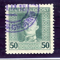 AUSTRIAN MILITARY POST 1917 Karl I   50 H.. Perforated 11½ Used.  Michel/ANK 65B - 1850-1918 Empire