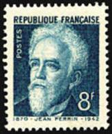 France N°  821 ** Jean Perrin - Physicien, Chimiste Et Homme Politique - France