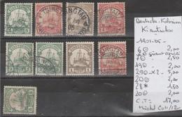 TIMBRES D ALLEMAGNE OBLITEREES  COLONIES KIANTCHOU 1901-05  Nr 6-7-19-29-20-28*-20   COTE 17 € - Deutschland