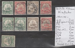 TIMBRES D ALLEMAGNE OBLITEREES  COLONIES KIANTCHOU 1901-05  Nr 6-7-19-29-20-28*-20   COTE 17 € - Allemagne