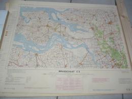 Brasschaat Stafkaart - 1957 - Cartes Topographiques