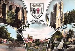 Capestang - Château - Eglise - Collégiale St-Etienne - Place Jean-Jaurès - C.E.G. - Blason - Capestang