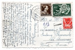CV Expédiée De THEUX Vers Le Quesnoy (F) - Taxation Française - Postage Due