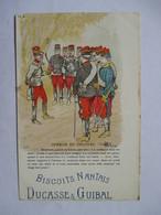GUILLAUME A.  -   SPEECH DU COLONEL .....    -  PUBLICITE BISCUITS NANTAIS         LEGERS DEFAUTS - Militaria