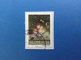 2009 SLOVENIA SLOVENIJA FRANCOBOLLO USATO STAMP USED NATALE NOEL CHRISTMAS C - Slovenia
