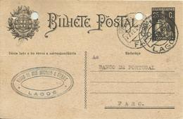 PORTUGAL - 1930   INTEIRO POSTAL   -  ENTIRE POSTAL STATIONERY - LAGOS-FARO - Entiers Postaux