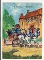 Bonne Année. Couple En Calèche, Château. Signée Quinto. Ediditions G. Picard. G.P. La Rose - Nouvel An